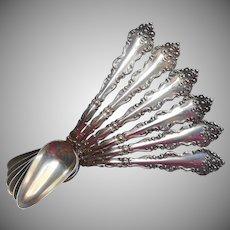 Monogram L Antique Citrus Fruit Spoons Lafayette 1908 Silver Plated