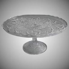 Antique Cake Stand Pedestal EAPG Pressed Glass