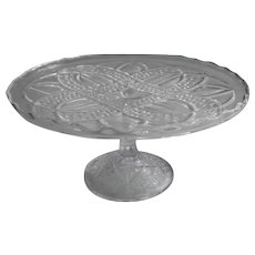 Antique Cake Stand Pedestal EAPG Pressed Glass