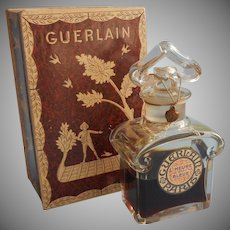 Guerlain L'Heure Bleue Perfume Baccarat Bottle Vintage In Box Unused