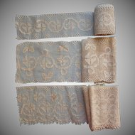 Antique Lace Wide Matching Insertion Edging Unused Trim Yardage