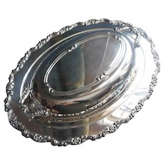 Oneida Royal Provincial Silver Plated Serving Dish Convertible Lid Vintage