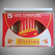 Vintage Candolier 5 Light Original Box Christmas Sterling Brand