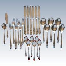 Triumph 1941 Vintage Silver Plated Flatware 6 Place Settings Set 26 Pieces