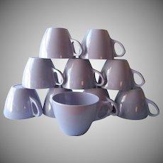 Vintage Melmac Purple Royalon Cups 10 Mid Century