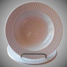 Oneida Basketweave 3 Flat Soup Bowls Majesticware Stoneware
