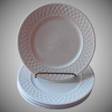 Oneida Basketweave 3 Salad Plates Majesticware Stoneware