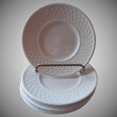 Oneida Basketweave 4 Bread Plates Saucers Majesticware Stoneware