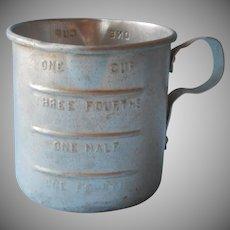 Vintage Aluminum Measuring Cup 1 Cup Just Like Grandma's