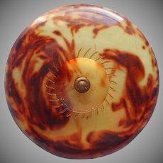 Vintage Button Bakelite Big Coat Faux Tortoiseshell Color