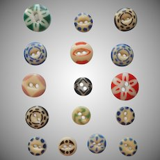 Antique Buttons China Stencil Stencils 16