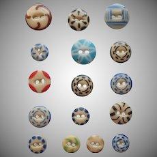 Antique Buttons China Stencil Stencils 16