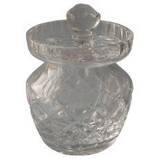Waterford Kerry Jar Vintage Cut Crystal Glass Condiment Honey Jam Etc - Red Tag Sale Item