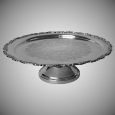 Cake Stand Pedestal Royal Provincial Vintage Silver Plated Oneida