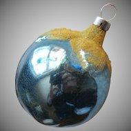 Vintage Christmas Tree Ornament Glass Czechoslovakia Blue Plum Berry Fruit