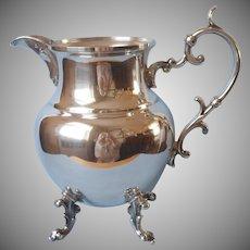 Water Pitcher Silver On Copper Vintage Birmingham