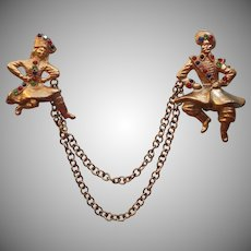 Russian Cossack Dancers Vintage Pins Pin On Swagged Chains