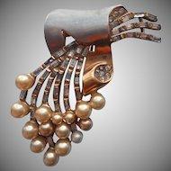 1940s Deja Fur Clip Vintage Faux Pearls TLC