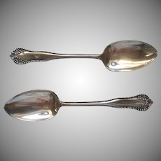 Monogram C Antique Silver Plated Table Spoons Mayflower 1901 Serving Spoon
