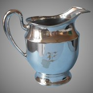 Monogram E Antique Apollo Silver Plated Water Pitcher