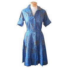 1960s Skirt Shirt Set Donnkenny Vintage Shirt Dress Look - Red Tag Sale Item