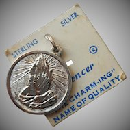 Serenity Prayer Charm Sterling Silver Vintage On Original Spencer Card