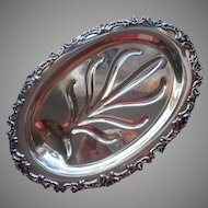 Ascot Pattern Vintage Silver Plated Carving Meat Tray Oneida Community