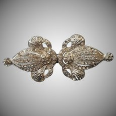 1930s Buckle Vintage Art Deco Rhinestone For Dress Two Piece