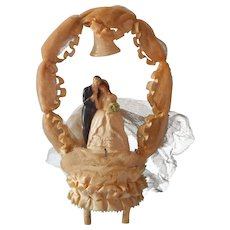 1940s Wedding Cake Topper Big One Sweet Bride Groom Lean On One Another