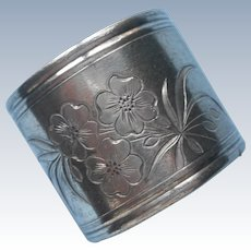 Lucy Engraved On Antique Napkin Ring Silver Plated