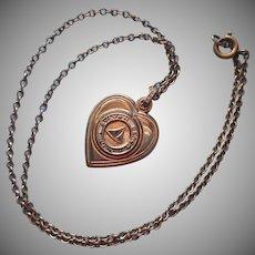 Sylvan Beach Souvenir Locket Vintage Slider Style On Chain Necklace