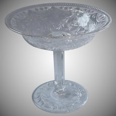 Jelly Compote Small Relish Pedestal Glass Antique