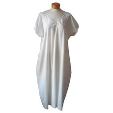 Antique Nightgown XL Italian Wedding Entirely Hand Sewn Embroidered Unused