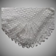 Antique Italian Crocheted Lace Bedspread Coverlet Wedding 92 x 108