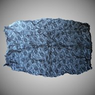 Antique Lace Black Net Large Fragment 30 x 19 For Dress Bodice Front