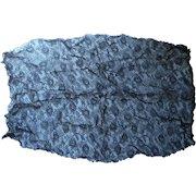 Antique Lace Black Net Large Fragment 30 x 19 For Dress Bodice Front