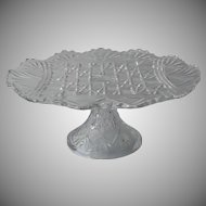 Antique Cake Pedestal Stand EAPG Pressed Glass