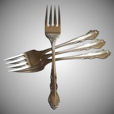 Dover Vintage Stainless Steel 4 Dinner Forks Oneida Cube
