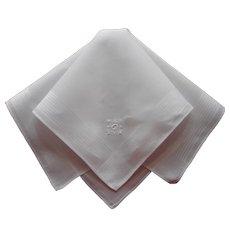 Monogram G Men's Vintage Hankie Handkerchief