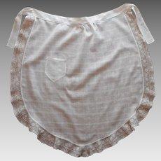 Antique Apron Lace Cross Barred Dimity Cotton