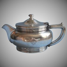 1920s Hotel Teapot Beverly Wilshire Vintage Gorham Silver Plated 1928