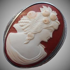 Vintage Cameo Pin Celluloid 1920s to 1930s Looks Real On