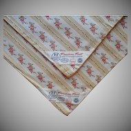 Pillow Protectors Vintage Wallpaper Stripe Golden Yellow Pink Roses