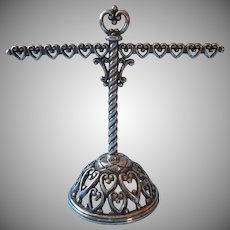 Brighton Treasured Hearts Earring Bracelet Stand Rack Vintage