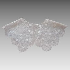 Irish Lace Collar Antique Late 1910s to 1920s