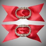 Antique Paste Buckles Pair Georgian Imitation Diamonds Wedding Worthy