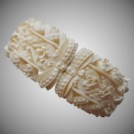 Featherweight Featherlite Clamper Bracelet Vintage Summer White