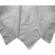 Roses Hand Embroidery Cutwork Linen Square Tablecloth