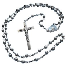 All Sterling Silver Vintage Rosary