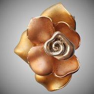 David Sigal Tricolor Vermeil Sterling Silver Pendant ScupturalRose